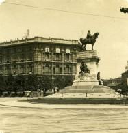 Italie Milan Monument Garibaldi Foro Bonaparte Ancienne Photo Stereo NPG 1900 - Stereoscopic