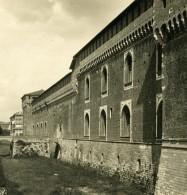 Italie Milan Château Sforza Castello Sforzesco Ancienne Photo Stereo NPG 1900 - Stereoscopic