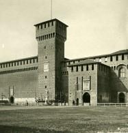 Italie Milan Château Sforza Castello Sforzesco Ancienne Photo Stereo 1900 - Stereoscopic