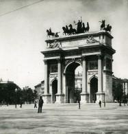 Italie Milan Arche De La Paix Arco Della Pace Ancienne Photo Stereo 1900 - Stereoscopic