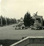 Italie Milan Camposanto Ancienne Photo Stereo NPG 1900 - Stereoscopic