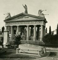 Italie Milan Camposanto Monument Lagnoni Ancienne Photo Stereo 1900 - Stereoscopic
