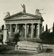 Italie Milan Camposanto Monument Lagnoni Ancienne Photo Stereo 1900 - Stereoscoop