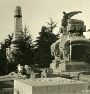 Italie Milan Camposanto Pier D'Houy Monument Ancienne Photo Stereo 1900 - Stereoscopic
