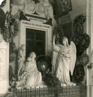 Italie Milan Camposanto Lazzaro Patrone Monument Ancienne Photo Stereo 1900 - Stereoscopic