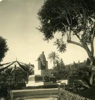 Italie San Remo Monument Garibaldi Ancienne Photo Stereo NPG 1900 - Stereoscopic