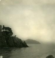 Italie Nervi Le Chateau Bords De Mer Ancienne Photo Stereo NPG 1900 - Stereoscopic