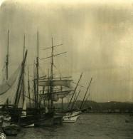 Italie La Spezia Le Port Voiliers Ancienne Photo Stereo NPG 1900 - Stereoscopic