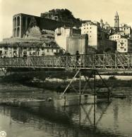 Italie Vintimille Ventimiglia Vue Générale Pont Ancienne Photo Stereo NPG 1900 - Stereoscopic