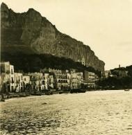 Italie Capri La Grande Marina Bord De Mer Ancienne Photo Stereo 1900 - Stereoscopic