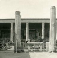 Italie Pompeii La Maison Des Vettii Ancienne Photo Stereo NPG 1900 - Stereoscopic