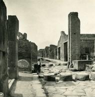 Italie Pompeii Via Stabia Ancienne Photo Stereo NPG 1900 - Stereoscopic