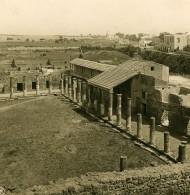 Italie Pompeii Palais Du Gladiateur Casa Dei Gladiatori Ancienne Photo Stereo NPG 1900 - Stereoscopic