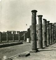 Italie Pompeii Forum Triangulaire Foro Triangolare Ancienne Photo Stereo NPG 1900 - Stereoscopic