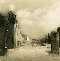 Italie Pompeii Avenue De L'Abondance Via Abbondanza Ancienne Photo Stereo NPG 1900 - Stereoscopic