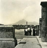 Italie Pompeii Vue Generale Du Forum Foro Ancienne Photo Stereo NPG 1900 - Stereoscopic