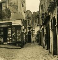 Italie Rue De Capri Marchand De Souvenirs Ruelle Ancienne Photo Stereo NPG 1900 - Stereoscopic