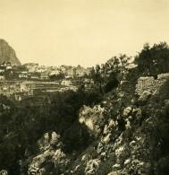 Italie Capri Panorama De La Pointe Tragara Ancienne Photo Stereo NPG 1900 - Stereoscopic
