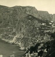 Italie Capri Le Mont Monte Solaro Ancienne Photo Stereo NPG 1900 - Stereoscopic