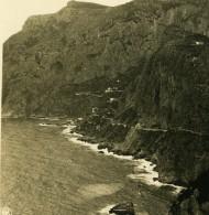 Italie Capri Pointe Du Mont Monte Solaro Ancienne Photo Stereo NPG 1900 - Stereoscopic