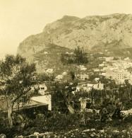 Italie Capri Panorama Du Telegraphe Telegrafo Ancienne Photo Stereo NPG 1900 - Stereoscopic