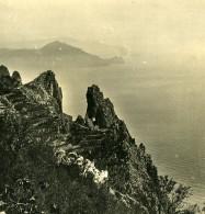 Italie Capri Strada Arco Naturale Arche Naturelle Ancienne Photo Stereo NPG 1900 - Stereoscopic