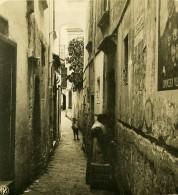 Italie Capri La Via Tiberio Ruelle Ancienne Photo Stereo NPG 1900 - Stereoscopic