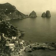 Italie Capri Piccola Marina Bords De Mer Ancienne Photo Stereo NPG 1900 - Stereoscopic