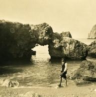 Italie Capri Piccola Marina Francesco Spadaro Ancienne Photo Stereo NPG 1900 - Stereoscopic
