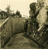 Italie Capri Villa Krupp Ruelle Ancienne Photo Stereo NPG 1900 - Stereoscopic