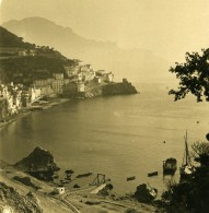 Italie Amalfi Vue De L'Hotel Sirena Ancienne Photo Stereo NPG 1900 - Stereoscopic