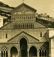 Italie Amalfi La Cathedrale Ancienne Photo Stereo NPG 1900 - Stereoscopic
