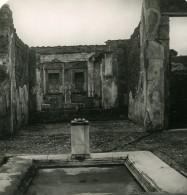 Italie Pompeï Maison D'un Noble Ancienne Photo Stereo 1900 - Stereoscopic