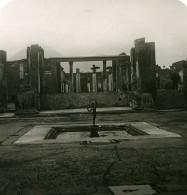 Italie Pompeï Maison Du Faune Casa Del Fauno Ancienne Photo Stereo 1900 - Stereoscopic