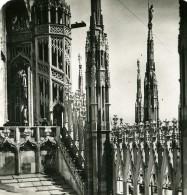 Italie Milan Cathedrale Duomo Di Milano Ancienne Photo Stereo 1900 - Stereoscopic