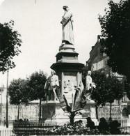 Italie Milan Statue Leonard De Vinci Ancienne Photo Stereo 1900 - Stereoscopic