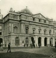 Italie Milan Theatre De La Scala Opera Ancienne Photo Stereo 1900 - Stereoscopic
