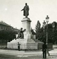 Italie Milan Monument Canova Cavour Ancienne Photo Stereo 1900 - Stereoscopic