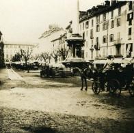 Italie Milan Un Marché Chevaux Carriole Ancienne Photo Stereo 1900 - Stereoscopic