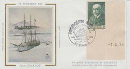 France Saint Malo 1986 Commémoration Du Cinquantenaire Du Dernier Voyage Du Pourquoi Pas Avec Timbre Charcot - Postmark Collection (Covers)