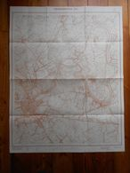Stafkaart Dendermonde Baasrode Moerzeke Grembergen Sint-Gillis Uitgave 1967 113cm Op 87,5cm - Topographical Maps