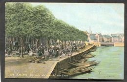 CPA - AMIENS - Un Coin Du Marché Sur L'eau, Très Animé - Amiens
