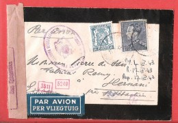 40-45 L Par Avion Per Vliegtuig Poortman 1943 Vers Hernani San Sebastian Censura GUBERNATIVA - WW II