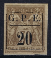 Guadeloupe: 1884 Yv 1 MH/* Flz/ Charniere 1884 - Guadeloupe (1884-1947)