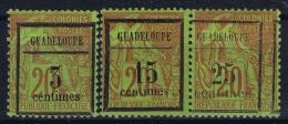 Guadeloupe:  Yv 3 - 5  MH/* Flz/ Charniere 1889 - Guadeloupe (1884-1947)
