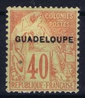 Guadeloupe:  Yv 24 MH/* Flz/ Charniere - Guadeloupe (1884-1947)