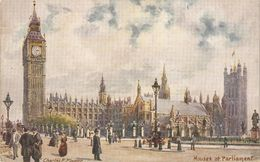 """""""Charles E. Flower, Houses Of Parliament"""" Tuck Oilette PC # 7898 - Ubbelohde, Otto"""