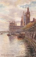 """""""Charles E. Flower, Houses Of Parliamen And Embarkmentt"""" Tuck Oilette PC # 7898 - Ubbelohde, Otto"""