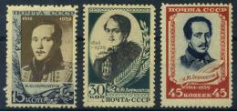 Unione Sovietica 1939 Mi. 726-728 Nuovo ** 100% Lermontov - 1923-1991 USSR