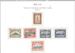 Bolivia PO 1916/17 Monolite E Altri Scott.111/116+See Scans On Scott.Page - Bolivia